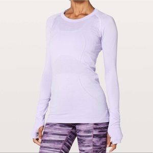 Swiftly Tech Long Sleeve Crew - Sheer Violet